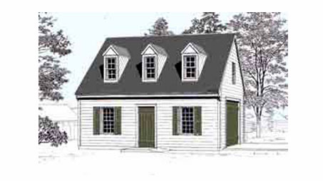 Pdf instant download garage plans now available at behm for Colonial garage plans
