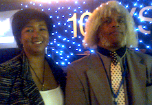 Dr. Mae Jemison, Dir. 100 Year Starship  with Marshall Barnes, R&D Eng (C) 2013