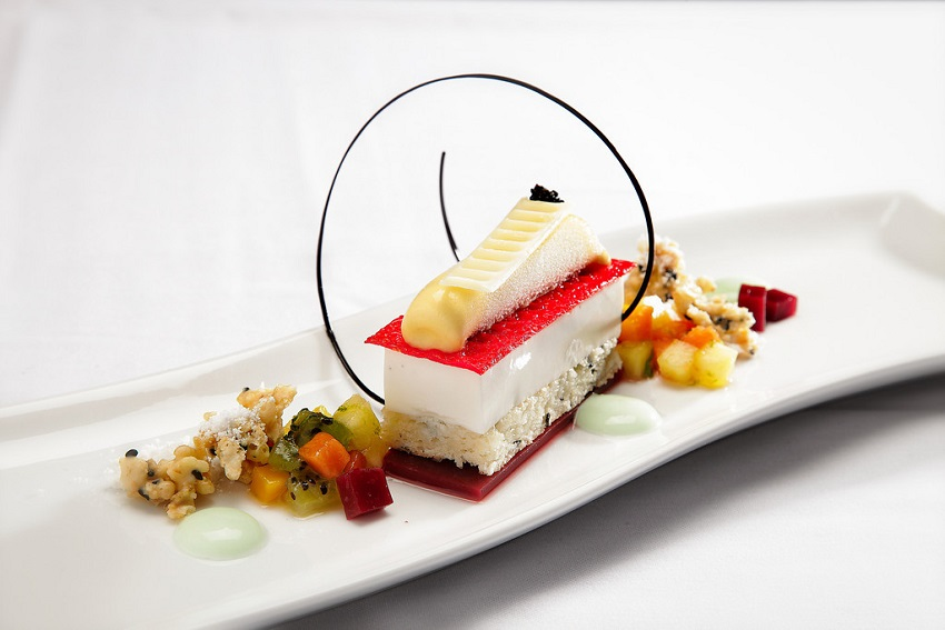 "Chef Joel Gonzelez's ""Tropical R&R,"" 2013 Signature Plated Dessert winner"