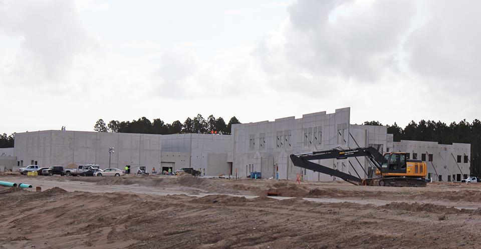 New K-8 School under construction in Durbin Crossing
