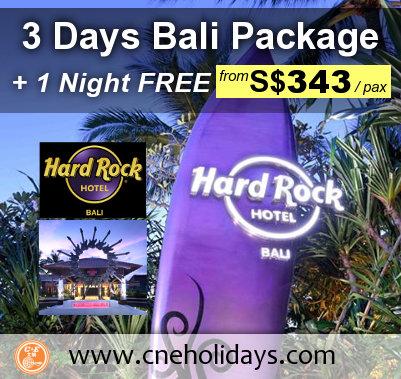 Hard Rock Hotel Bali Promotion from C & E Holidays