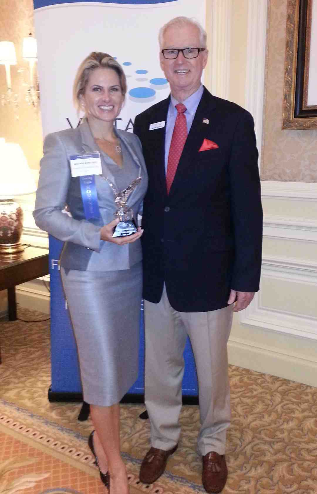Amanda Christides and her Vistage Michigan CE Group Chair Michael Balloch