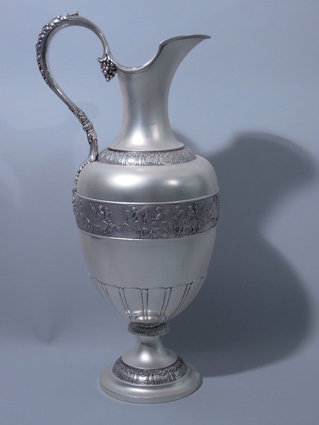 tiffany neoclassical sterling silver ewer c 1885
