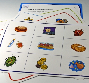 Hanukkah Bingo Game is fun for the whole family to play together
