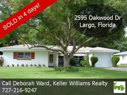 2595 Oakwood Drive, Largo, Florida - SOLD in 4 days!