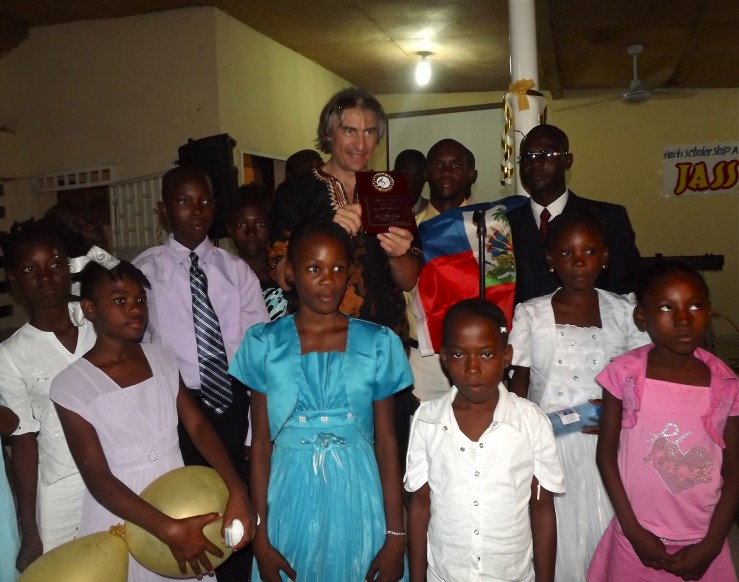 Rick DellaRatta awarded in Haiti by children of Haiti Scholarship Assn.