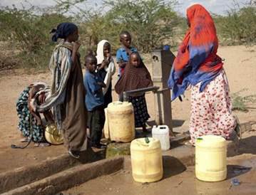 Water pump at African village