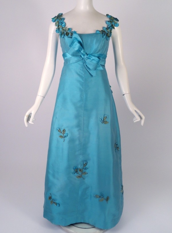 Several dresses like this blue evening gown will be on display at  El Centro.