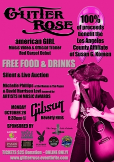 Glitter Rose Charity Event Flyer