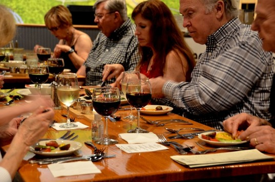 Pittsboro Roadhouse Five Course Wine Dinner with Heirloom Tomatoes