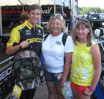 Morgan Lucas with his Real Tree Camo Diaper Backpack & Heather & Camryn Dewar
