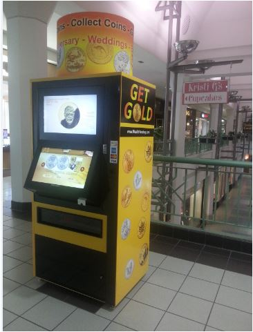 GetGold Vending Kiosk: Get Gold & Silver Coins for Gifting & Collecting.