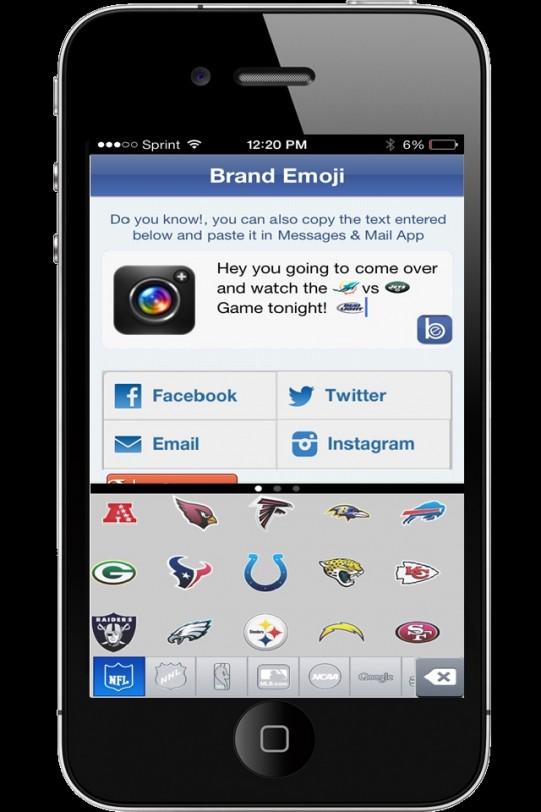 Brand Emoji FREE iPhone App