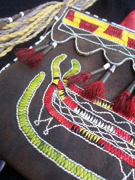 Quilled bag by Jim Taylor, Elnu Abenaki Tribe