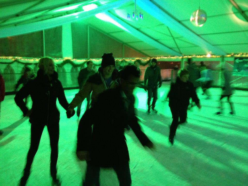 Ice skating at Windsor On Ice in 2012