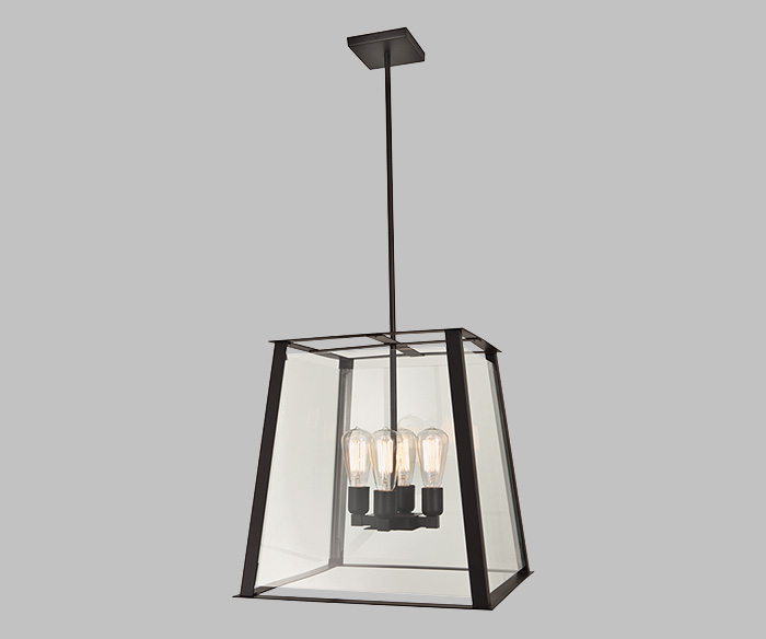 ilex architectural lighting s new geo lantern enhances pendant