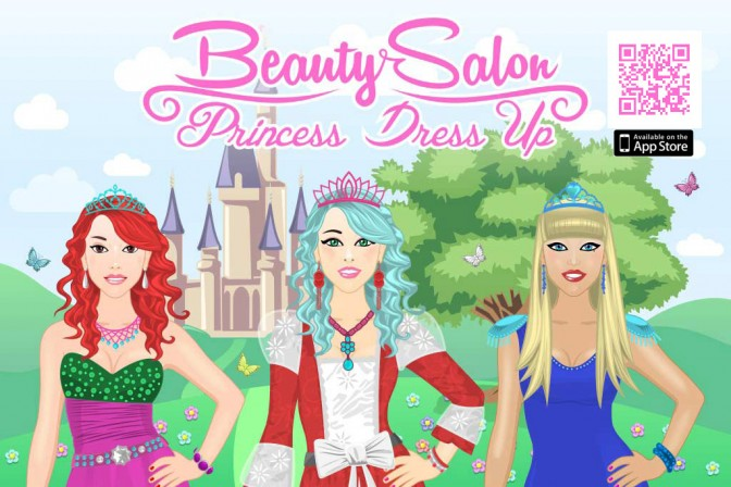 Beauty Salon - Princess Dress Up Game