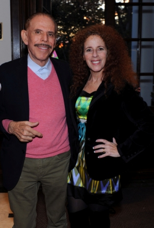 Peter Max shares with Carol Ruth Weber, photo by Tab Hauser