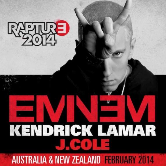 Eminem tour dates in Melbourne