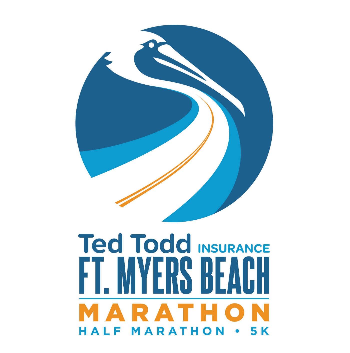 Ted Todd Insurance Fort Myers Beach Marathon event logo
