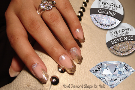 Beyonce Glimmer Nails