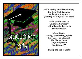 Graduation Party Invitations at GraduationCardsShop
