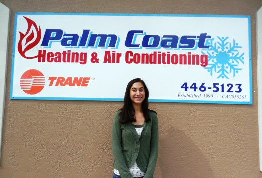 Sara Mohamed has joined Palm Coast Heating & AC & they have added a new van.