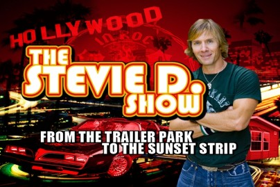 """The Stevie D. Show features Stevie chatting with friends in his """"double wide."""""""