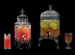 Paris Hammered Glass Drink Dispenser with Pedestal