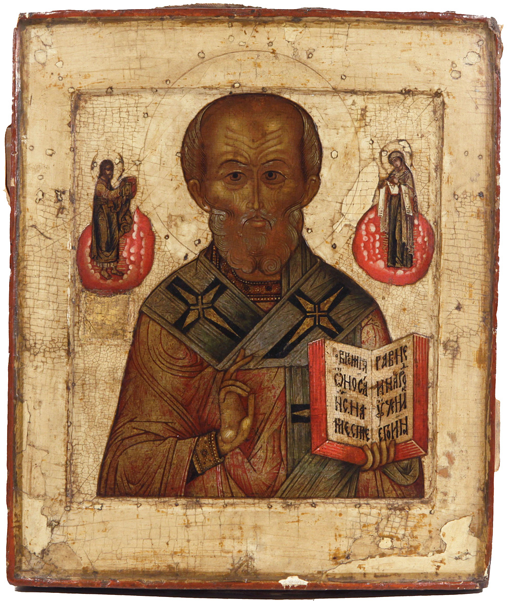 Russian Icon of St. Nicholas The Wonderworker, 16th Century