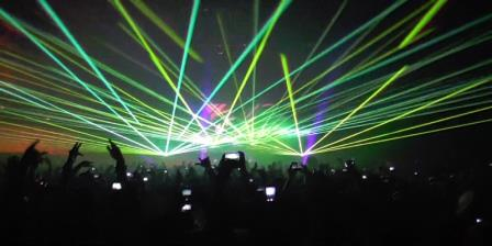 Lasertainment at Bingo Players in NYC