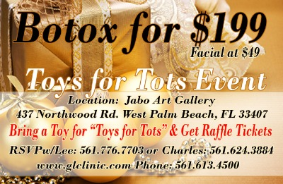 Evening of Beauty and Botox  to benefit Toys for Tots Event