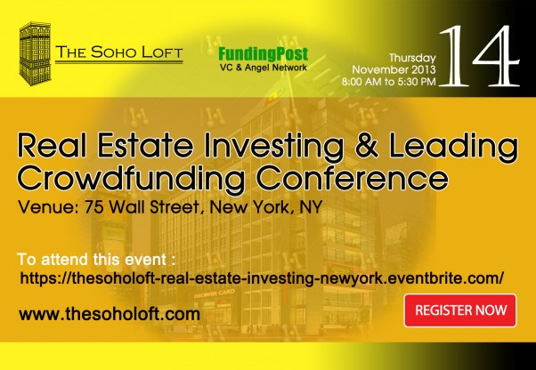Real Estate Investing and Leading Crowdfunding Conference in New York, Nov 14