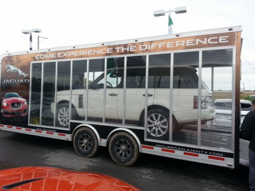 custom mobile display trailer has arrived at jaguar/land rover of