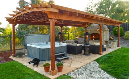 Attached Garden Pergolas Handcrafted By Forever Redwood
