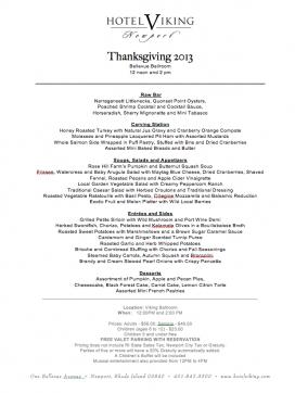 Hotel Viking Thanksgiving 2013