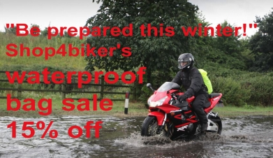 Shop4bikers waterproof luggage & Softseat 15% off