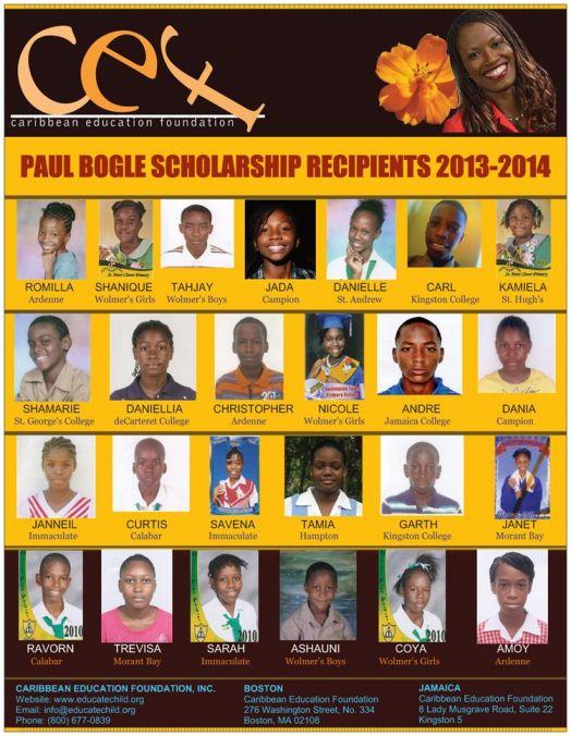 CEF 2013-2014 Paul Bogle Scholarship Recipients