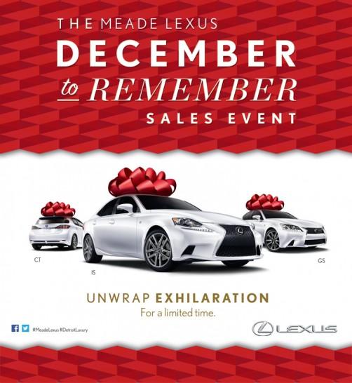 Lexus Sales: Lexus December Sales Event Going On Now In Detroit
