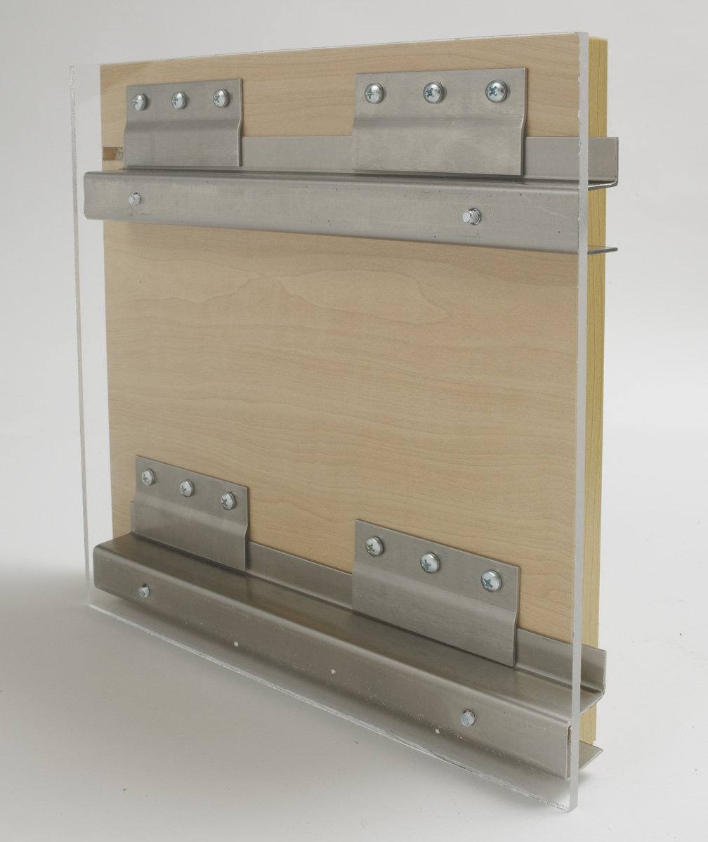 Stainless steel hanging system for curtain wall panels