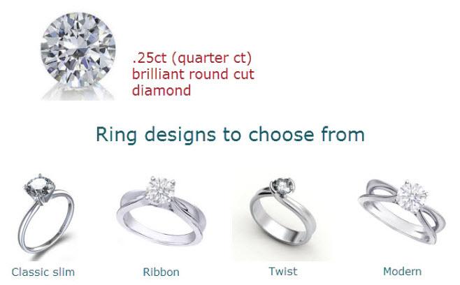 Quarter Carat Engagement Rings Sale Roselle S Custom