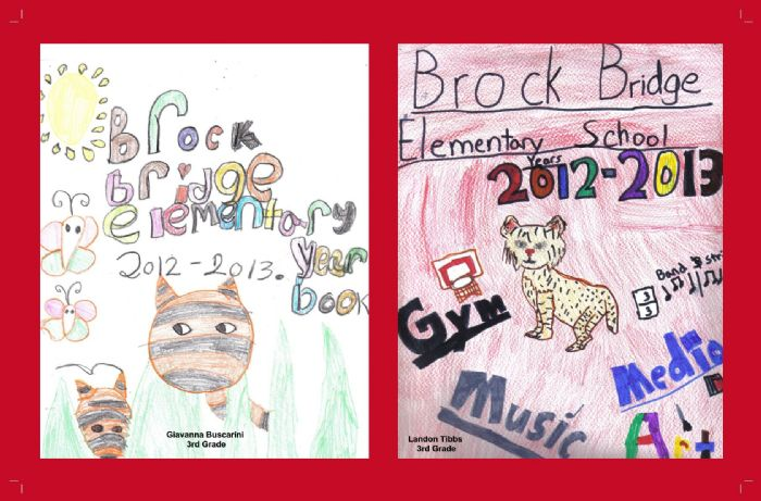 Brock Bridge Elementary Yearbook Cover