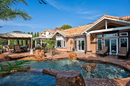 Resort-style backyard at 28 Alicante, Coto de Caza, CA