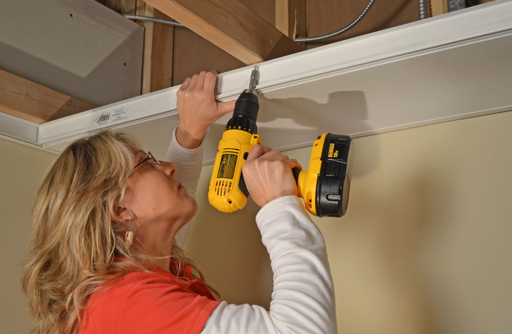 Zip-UP Ceiling is fast and easy to install