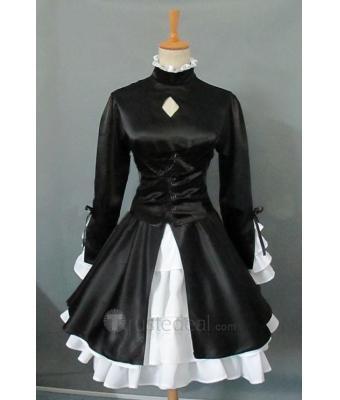 Fate hollow ataraxia dark Saber cosplay costume$67