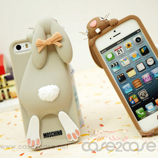 super popular fe242 f2582 Super Cute Moschino Rabbit iPhone 5S Silicone Case -- case2case | PRLog