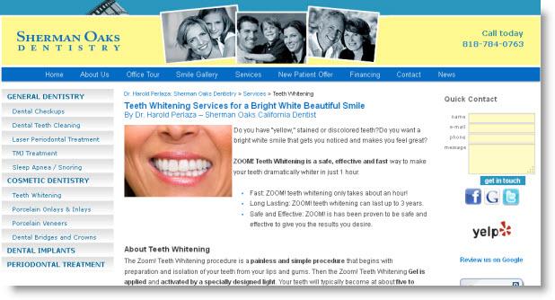 ZOOM! Teeth Whitening Sherman Oaks California