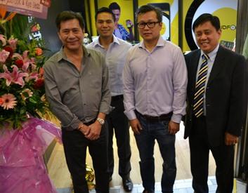 Raffy Lopez, Jojo Ines, Eric Yu and Noel ServigonL