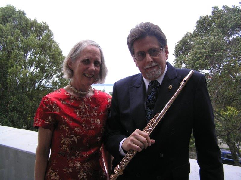 "Duo ""2"" (Peter H Bloom flute; Mary Jane Rupert, piano) on tour in New Zealand"