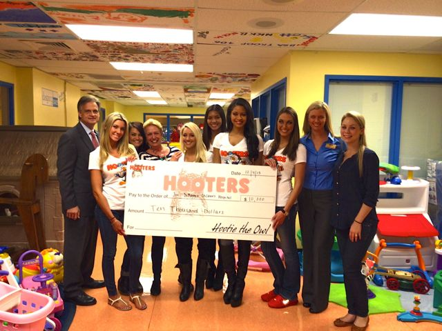 Hooters of South Florida $10,000 Donation to Joe DiMaggio Children's Hospital